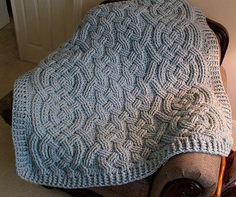 Ravelry: Moonbeam Cable Blanket pattern by Noelle Stiles