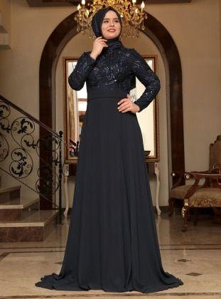 Tesettur Buyuk Beden Abiye Elbise Modanisa Com Evening Dresses Plus Size Muslim Evening Dresses Model Dress