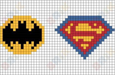 Batman And Superman Pixel Art Imagenes Punto De Cruz