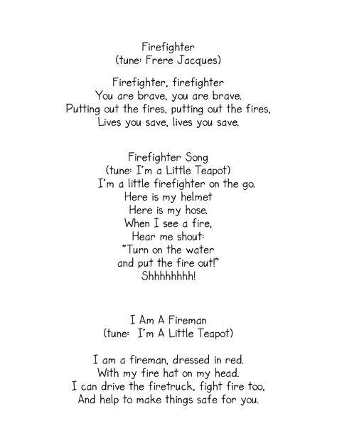 Week 3: Firefighter Songs