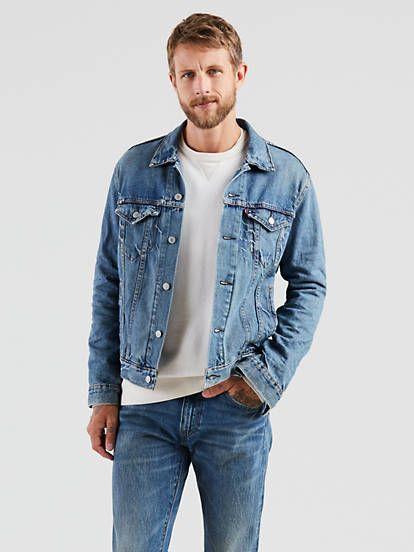 Trucker Jacket Light Wash Levi S Us Jackets Shop Mens Jeans Lined Denim Jacket
