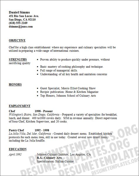 Personal Chef Resume Delectable Pastry Chef Resume Template Resumes Samples Enhydra Sleep With .