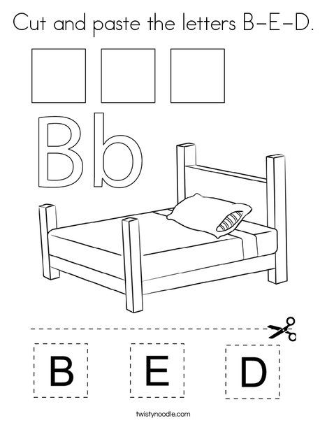 Bed Table Coloring Pages