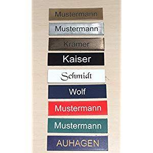 Namensschild Briefkastenschild selbstklebend mit Gravur Klingelschild Türschild