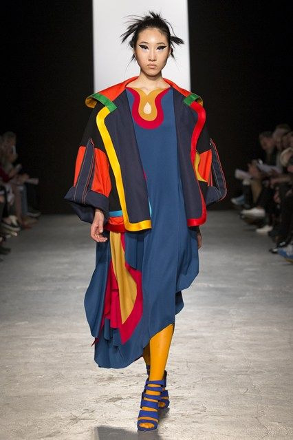 Catwalk photos and all the looks from Westminster University Autumn/Winter Ready-To-Wear London Fashion Week