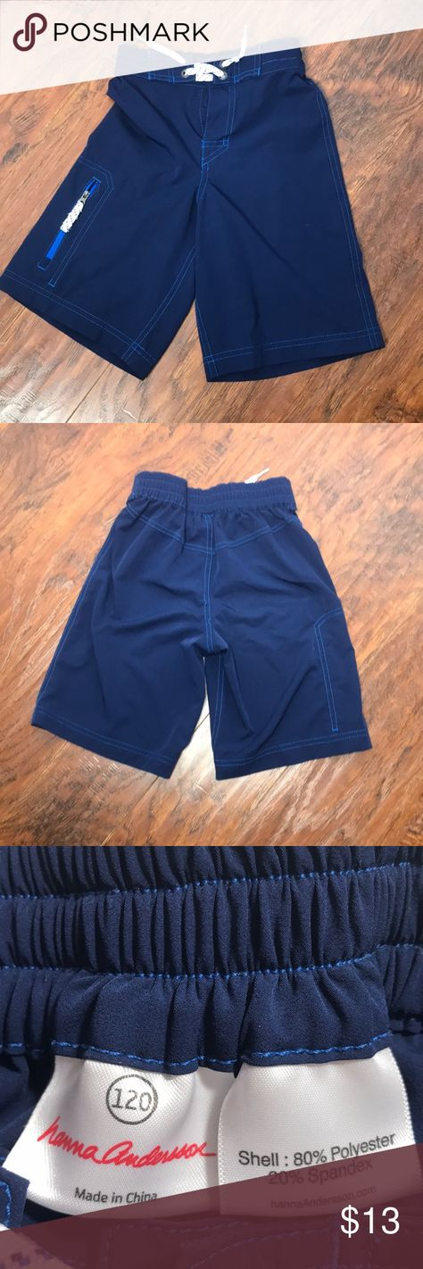 764c0157ad Hanna Andersson swum trunks 120 Preowned Boys trunks size 120 See last  picture for flaw AI316