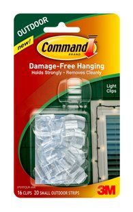 CommandTM Outdoor Light Clips A Damagefree Solution To String - How to hang christmas lights in bedroom without nails