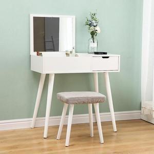 Oobest Coiffeuse Blanc 80 X 40 X 75 Cm Table De Maquillage Avec Miroir Moderne En 2020 Table Maquillage Coiffeuse Blanche Table De Maquillage Avec Miroir