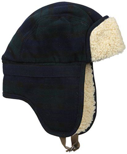 308525722 New Original Penguin Men's Wooly Check Trapper Hat Winter Sports ...