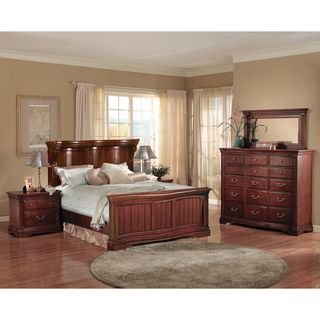 glenwood serpentine collection 5 piece bedroom set