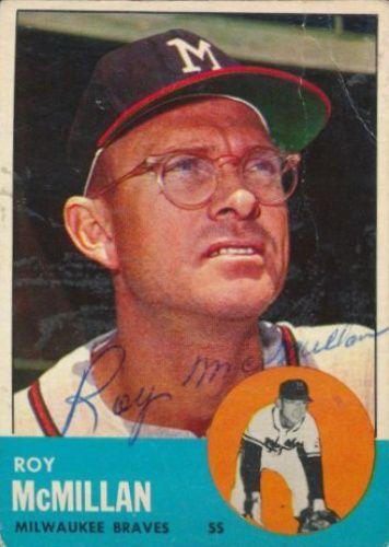 1963 Topps Roy Mcmillan Baseball Autographed Trading Card In 2020 Baseball Trading Cards Baseball Baseball Memorabilia