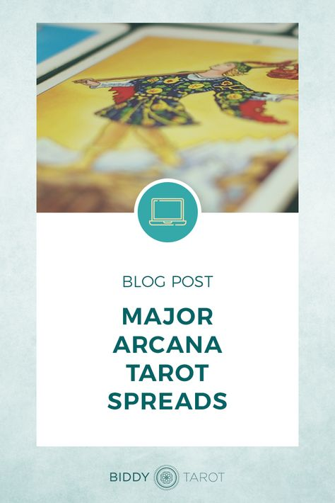 Reading the Tarot cards can certainly help to shed light on 'soul searching' questions, but one of the most powerful ways of answering these types of questions is to use a Major Arcana Tarot spread. | Delve deep into who you really are with Major Arcana Tarot Spreads | Biddy Tarot | #tarot #biddytarot #tarotspread #majorarcana #lifepurpose #tarotcards #everydaytarot #mastertarot #tarottribe #learntarot