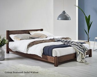 Low Modern Wooden Bed Frame By Get Laid Beds Low Bed Frame Modern Wooden Bed Wooden Bed
