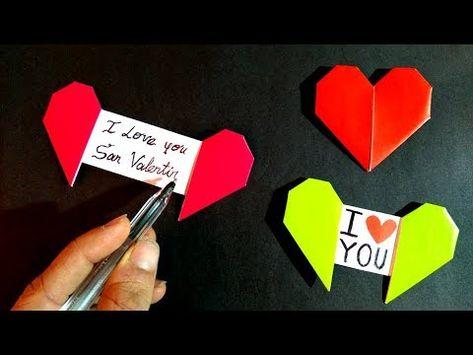 Corazón con mensaje oculto - Origami Heart with message - YouTube
