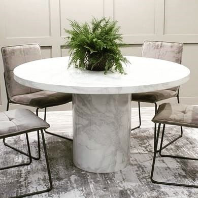 New The 10 Best Home Decor With Pictures Thinking Of Ordering Our Dining Room Table And Chai Dining Table Marble Round Marble Dining Table Marble Dining