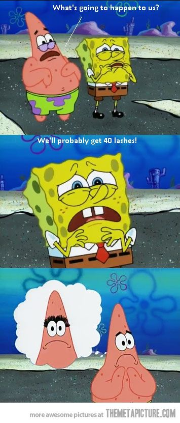 I love spongebob! lol Only the older episodes though....the new ones aren't as funny or clever.
