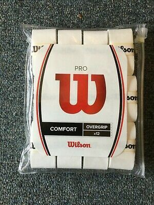 New Wilson Pro Comfort Tennis Overgrip White 12 Pack In 2020 Lunch Box Comfort Coffee Bag