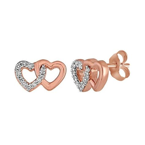 10K Rose Gold Round Cut Natural Diamond Double Heart Earrings - yellow Product Information  Type-Earrings Style-Double Heart Metal- Rose Gold Metal Purity- 10k Main Stone- Diamond Main Stone Color- White Main Stone Shape- Round Clarity- I2 - I3 Cut- Very Good Country/Region of Manufacture- United States Occasion- Engagement/Wedding/Anniversary/Promise/Mother's Day