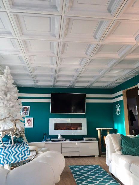 Decorative Moldings Decor Accents Ceiling Tiles Udecor Com Decorative Ceiling Tile Ceiling Tiles Basement Dropped Ceiling