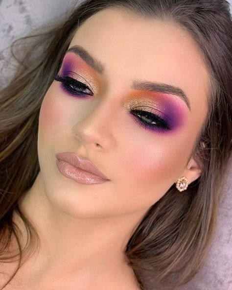 Bold Makeup Looks, Pretty Eye Makeup, Eye Makeup Art, Beautiful Eye Makeup, Kiss Makeup, Eyeshadow Makeup, Glamorous Makeup, Glam Makeup, Makeup Inspo