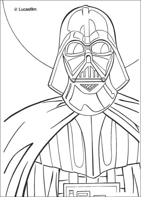 Coloriage De Star Wars De Dark Vador Un Coloriage Sur Les