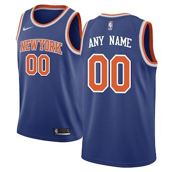 536aaf74ac4 New York Knicks Nike Swingman Custom Jersey Blue - Icon Edition ...
