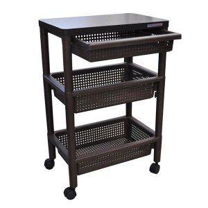 キッチンワゴン キャスター付きテーブルワゴンマルチ収納棚