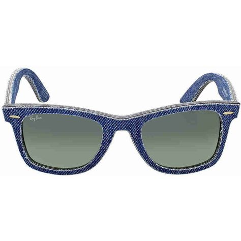 74a741d0c71 Ray Ban Original Wayfarer Denim Grey Gradient Sunglasses RB2140F... ( 75) ❤  liked on Polyvore featuring jewelry