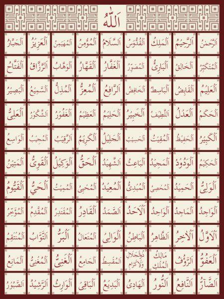 99 Names Of Allah Stock Vector Spon Names Allah Vector Stock Ad Allah Names Beautiful Names Of Allah Allah