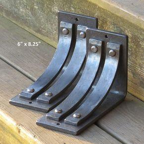 """Metal shelf bracket ONE 6/""""x7/"""" Shelf bracket Mantel bracket Corbel"""