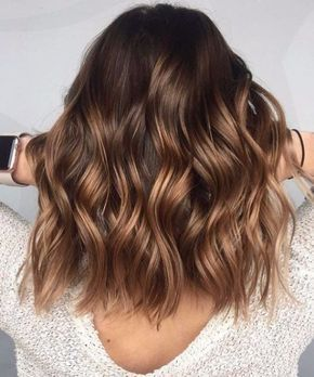 couleur noisette brune balayage cheveux balayage brune