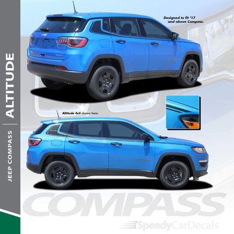 2020 2019 2018 2017 Jeep Compass Stripe Altitude 3m Premium