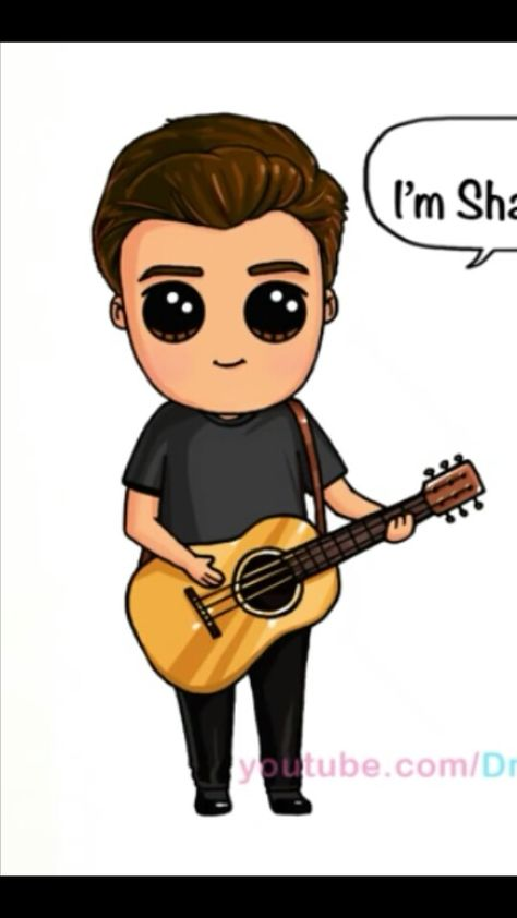 Shawm mendes by draw so cute