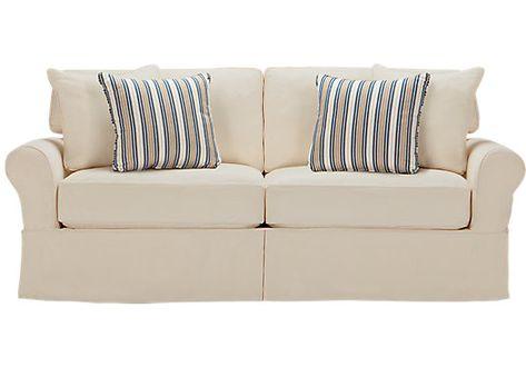 Admirable Cindy Crawford Home Beachside White Denim Sofa Denim Sofa Theyellowbook Wood Chair Design Ideas Theyellowbookinfo