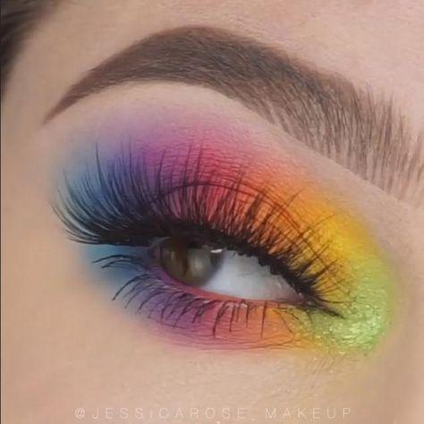 Makeup Eye Looks, Eye Makeup Steps, Eye Makeup Art, Crazy Makeup, Eyeshadow Makeup, Movie Makeup, Fairy Makeup, Glitter Eyeshadow, Eyeshadows