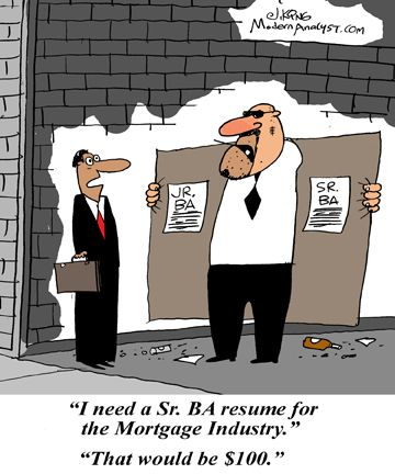 Humor - Cartoon The Business Analyst and the Recruiter Business - ba resume