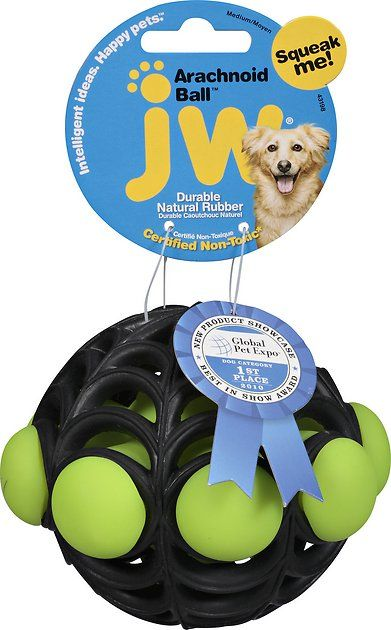Buy Jw Pet Arachnoid Ball Dog Toy Color Varies Medium At Chewy