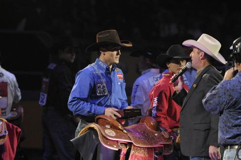 Another great shot of Tuf Cooper winning  2012 PRCA Tie Down Roper World Championship. See more pics here>> http://my.gactv.com/wrangler-national-finals-rodeo/multigallery.esi