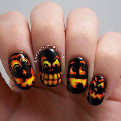 halloween by thepolishedpixie #nail #nails #nailart
