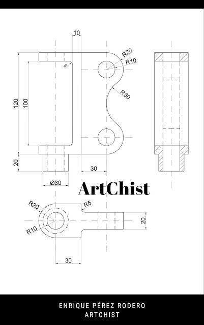 Ejercicios De Autocad 2d Y 3d Conceptos Basicos Linea Circunferencia Recorte Simetria Copiar Autocad Planos Autocad Dibujo Tecnico Ejercicios