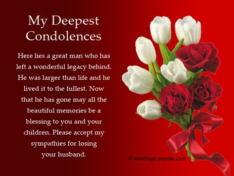 Sympathy Messages for Loss of Husband Wordings and Messages - sympathy message