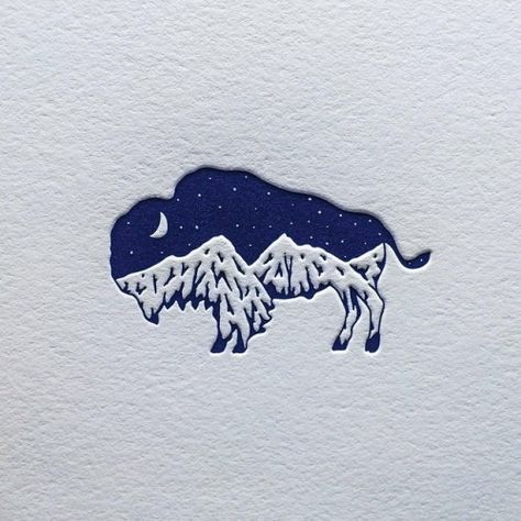 bison mountain logo design Published by Maan Ali