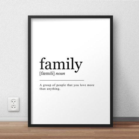 Family Definition, Printable Wall Art, Family Print, Family Poster, Funny Family Quote, Family Print