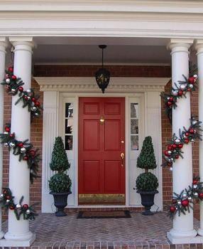 La Navidad Nos Inspira Para Crear Y Hacer Cosas Especiales Algo Decoracion Navidad Balcones Decoraciones De Navidad Al Aire Libre Decoracion Navidena Balcones