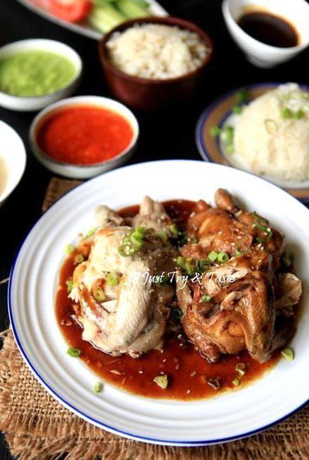 Resep Nasi Ayam Hainan Komplit Dengan 3 Macam Saus Jtt Food Receipes Malaysian Food Asian Cooking