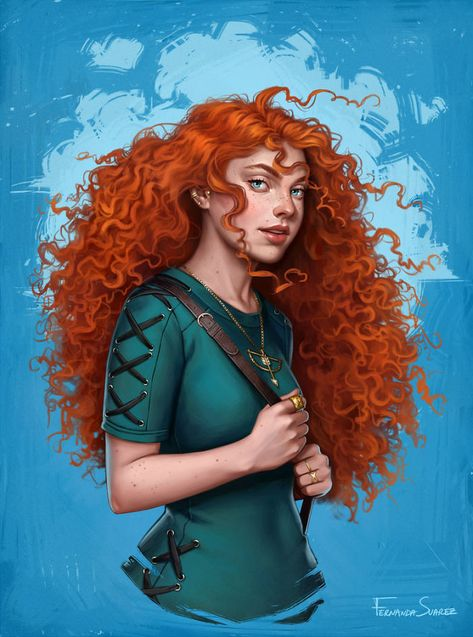 Chilean digital artist Fernanda Suarez continues her crusade of reimagining Disney princesses as ordinary people from the 21st century. Except this time, not
