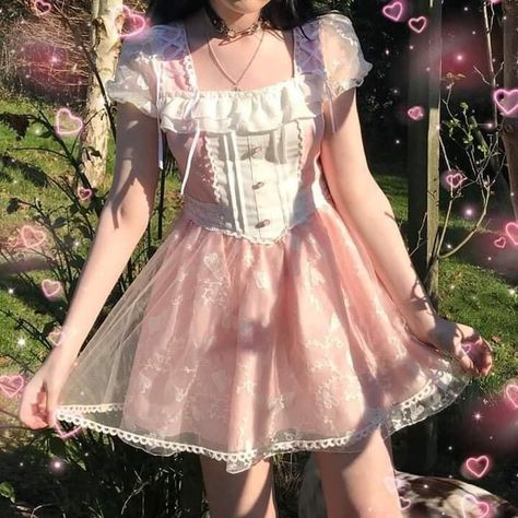 Discovered by lexee. Find images and videos about girl and style on We Heart It - the app to get lost in what you love. Kawaii Fashion, Lolita Fashion, Cute Fashion, Fashion Outfits, Dress Fashion, Pastel Fashion, Rock Fashion, Emo Fashion, Fashion Art
