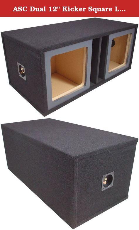 """Dual 12/"""" MDF Square-Hole Sealed Enclosure//Box for Kicker Solo-Baric L7 //L5 //L3"""