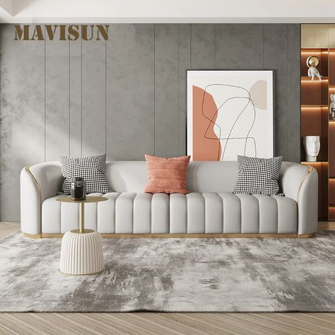 Living Room Sofa Design, Living Room Colors, Living Room Furniture, Leather Sofa Set, Apartment Sofa, Modern Couch, Couch Sofa, Modern Luxury, French Style