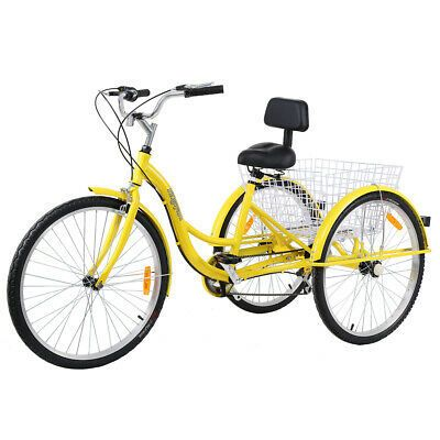 "26/"" 7-Speed Adult 3-Wheel Tricycle Trike Bicycle Bike Cruise Basket Ridgeyard®"